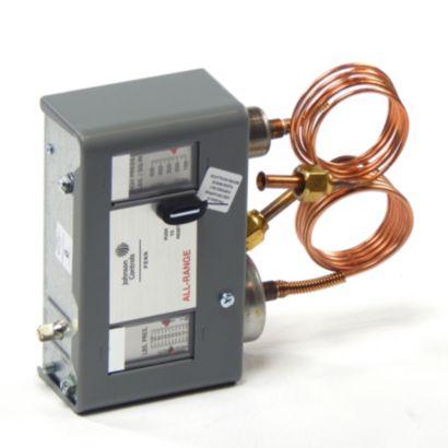 "Johnson Controls P70MA-1C - SPST Dual Pressure Control; 20""/100#; 100/425# 36"" Cap"
