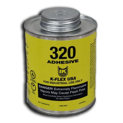 K-Flex 800-320-12PTB - 320 Contact Adhesive, 1/2 Pint, Brush Top