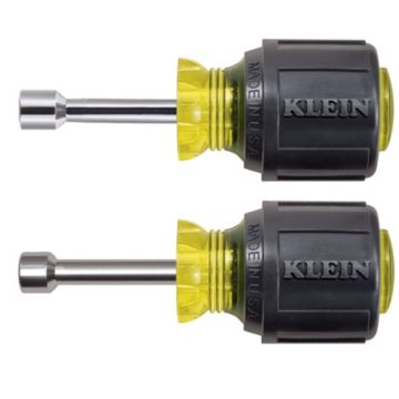 "Klein Tools 610 - Stubby Nut Driver Set - 1-1/2"" Shafts"