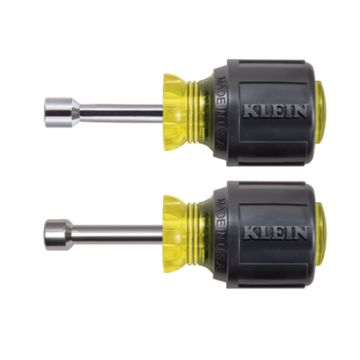 "Klein Tools 610M - Magnetic Tip Nut Driver Set - 1-1/2"" Hollow Shafts"
