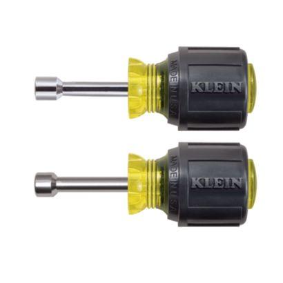 "Klein Tools 610M - Magnetic Tip Nut Driver Set - 1-1/2"" Hollow Shafts"