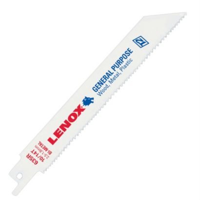 "Lenox 20580810R - 8"" (203mm) 10TPI T2 General Purpose Bi-Metal Reciprocating Saw Blade"