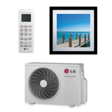 LG LA090HVP - 9,000 BTU 16 SEER Framed Wall Ductless Mini Split Air Conditioner Heat Pump 208-230V
