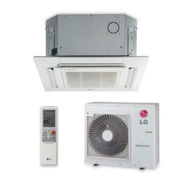 LG LC247HV - 24,000 BTU 17 SEER Ceiling Cassette Ductless Mini Split Air Conditioner with Heat Pump 220V