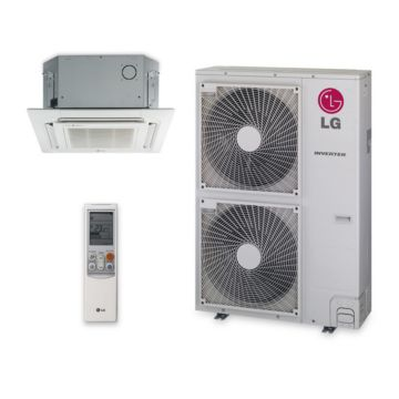 LG LC367HV - 36,000 BTU 19 SEER Ceiling Cassette Ductless Mini Split Air Conditioner with Heat Pump 220V
