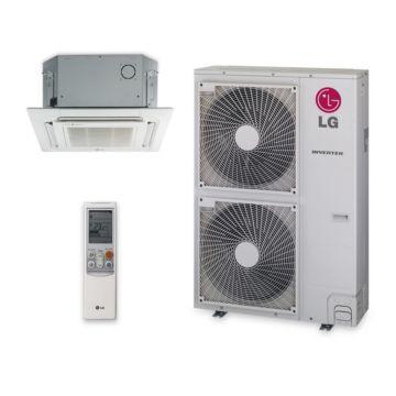 LG LC367HV - 36,000 BTU 19 SEER Ceiling Cassette Ductless Mini Split Air Conditioner Heat Pump 208-230V