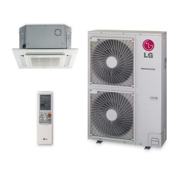 LG LC427HV -  42,000 BTU 17 SEER Ceiling Cassette Ductless Mini Split Air Conditioner with Heat Pump 220V