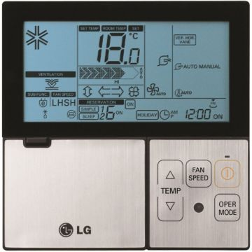LG Deluxe Black Wired Wall Thermostat
