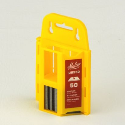 Malco UBS50 - Dispenser 50 pack Straight Double Point blades