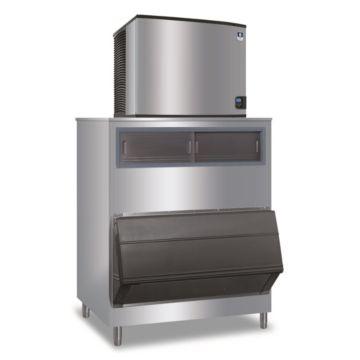 """Manitowoc IY0906A-261-F1300 - 12,700 BTU 30"""" Indigo Half Dice Cube Ice Machine & 1320 lbs F-Style Bin System 220V"""