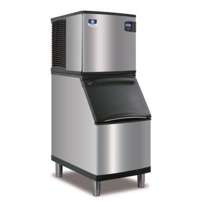 """Manitowoc ID0324A-161-B320 - 3,300 BTU 22"""" Indigo Half Dice Cube Ice Machine & B-Style Bin System 115V"""
