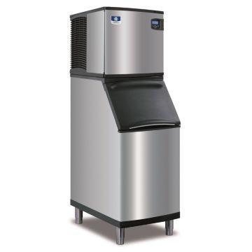 """Manitowoc ID0324A-161-B420 - 3,300 BTU 22"""" Indigo Half Dice Cube Ice Machine & B-Style Bin System 115V"""