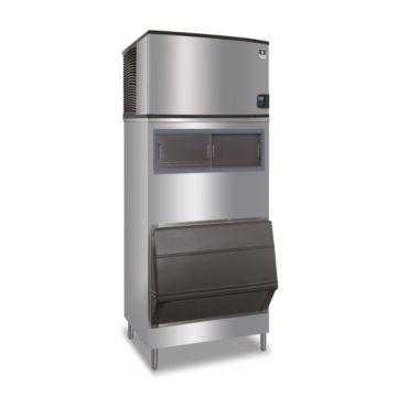 """Manitowoc ID0502A-161-F700 - 6,100 BTU 30"""" Indigo Dice Cube Ice Machine & F-Style Bin System 115V"""