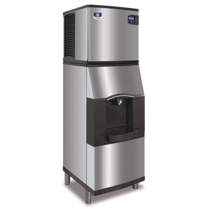 "Manitowoc ID0522A-161-SPA160 - 5,300 BTU 22"" Indigo Dice Cube Ice Machine & Hotel Style Dispenser System 115V"