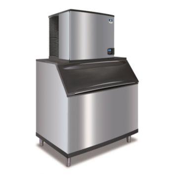 """Manitowoc ID0906A-261-B970 - 12,700 BTU 30"""" Indigo Dice Cube Ice Machine & 710 lbs B-Style Bin System 220V"""