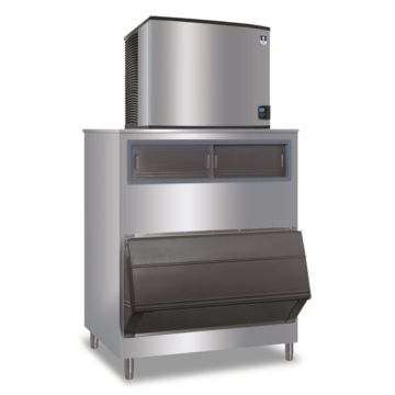 """Manitowoc ID1106A-261-F1300 - 16,250 BTU 30"""" Indigo Dice Cube Ice Machine & F-Style Bin System 208-230V"""