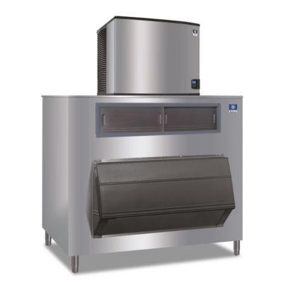"""Manitowoc ID1106A-261-F1325 - 16,250 BTU 30"""" Indigo Dice Cube Ice Machine & F-Style Bin System 208-230V"""