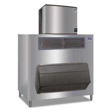"""Manitowoc ID1106A-261-F1650 - 16,250 BTU 30"""" Indigo Dice Cube Ice Machine & 1660 lbs F-Style Bin System 220V"""