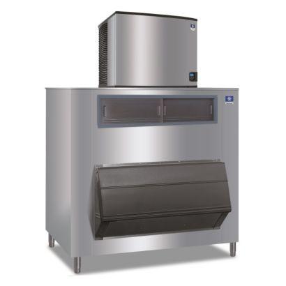 """Manitowoc ID1106A-261-F1650 - 16,250 BTU 30"""" Indigo Dice Cube Ice Machine & F-Style Bin System 208-230V"""
