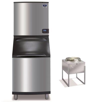 """Manitowoc ID1196N-261-B570 - 16,250 BTU 30"""" Remote Cooled Indigo Dice Cube Ice Machine & B-Style Bin System 208-230V"""