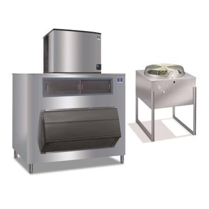 """Manitowoc ID1196N-261-F1325 - 16,250 BTU 30"""" Remote Cooled Indigo Dice Cube Ice Machine & F-Style Bin System 208-230V"""