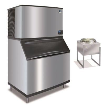 """Manitowoc ID1492N-261-B970 - 23,500 BTU 48"""" Remote Cooled Indigo Dice Cube Ice Machine & B-Style Bin System 208-230V"""