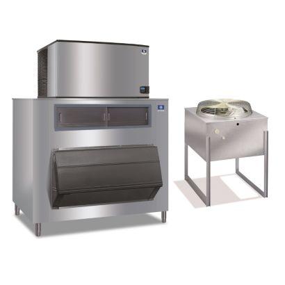 """Manitowoc ID1492N-261-F1325 - 23,500 BTU 48"""" Remote Cooled Indigo Dice Cube Ice Machine & F-Style Bin System 208-230V"""