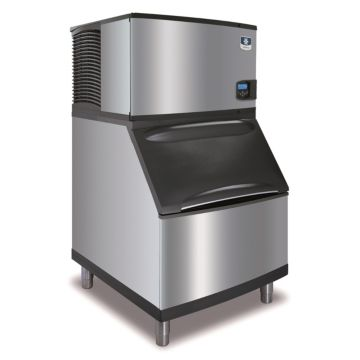 """Manitowoc IY-0304A-161-B400 - 4,600 BTU 30"""" Indigo Half Dice Cube Ice Machine & B-Style Bin System 115V"""