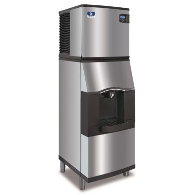 "Manitowoc IY0324A-161-SFA191 - 3,300 BTU 22"" Indigo Half Dice Cube Ice Machine & Dispenser System With Water Valve 115V"