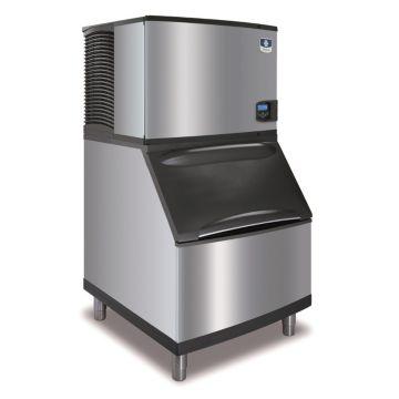 """Manitowoc IY0454A-161-B400 - 5,400 BTU 30"""" Indigo Half Dice Cube Ice Machine & 290 lbs B-Style Bin System 115V"""