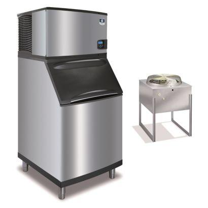 """Manitowoc IY0594N-161-B570 - 6,100 BTU 30"""" Remote Cooled Indigo Half Dice Cube Ice Machine & B-Style Bin System 115V"""