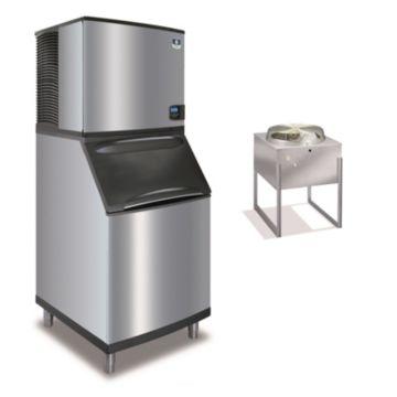 """Manitowoc IY0996N-261-B570 - 12,700 BTU 30"""" Remote Cooled Indigo Half Dice Cube Ice Machine & 430 lbs B-Style Bin System 220V"""