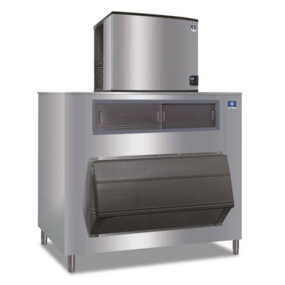 """Manitowoc IY1106A-261-F1325 - 16,250 BTU 30"""" Indigo Half Dice Cube Ice Machine & F-Style Bin System 208-230V"""