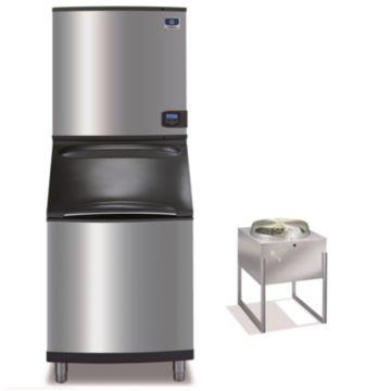 """Manitowoc IY1196N-261-B570 - 16,250 BTU 30"""" Remote Cooled Indigo Half Dice Cube Ice Machine & B-Style Bin System 208-230V"""