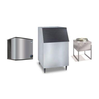 """Manitowoc IY1196N-261-C730S- 16,250 BTU 30"""" Remote Cooled Indigo Half Dice Cube Ice Machine & C-Style Bin System 208-230V"""