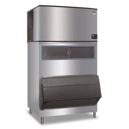 """Manitowoc IY1404A-261-F1300 -  5,400 BTU 48"""" 5,400 BTU Indigo Half Dice Cube Ice Machine & F-Style Bin System 208-230V"""