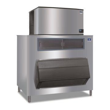 """Manitowoc ID1402A-261-F1325 - 23,500 BTU 48"""" Indigo Dice Cube Ice Machine & 1325 lbs F-Style Bin System 220V"""
