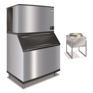 """Manitowoc IY1494N-261-B970 - 23,500 BTU 48"""" Remote Cooled Indigo Half Dice Cube Ice Machine & B-Style Bin System 208-230V"""