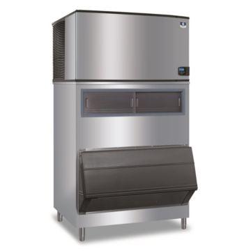 """Manitowoc IY1804A-261-F1300 - 30,000 BTU 48"""" Indigo Half Dice Cube Ice Machine & F-Style Bin System 208-230V"""