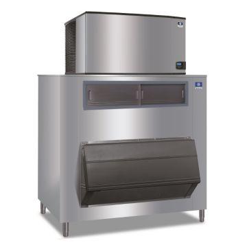 """Manitowoc IY1804A-261-F1650 - 30,000 BTU 48"""" Indigo Half Dice Cube Ice Machine & 1660 lbs F-Style Bin System 220V"""