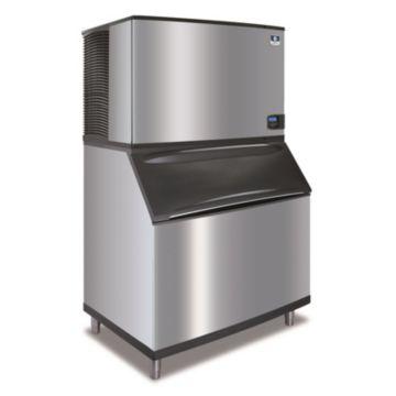 """Manitowoc IY1804A-261-B970 - 30,000 BTU 48"""" Indigo Half Dice Cube Ice Machine & 710 lbs B-Style Bin System 220V"""