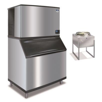 """Manitowoc IY1894N-261-B970 - 30,000 BTU 48"""" Remote Cooled Indigo Half Dice Cube Ice Machine & B-Style Bin System 208-230V"""