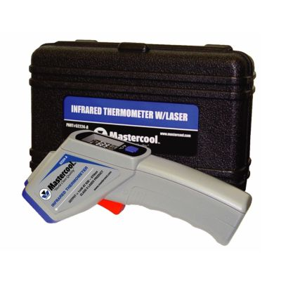 Mastercool 52224-A - Infrared Thermometer  w/Laser; DSP 12:1; Colored Screen; Blowmolded Case