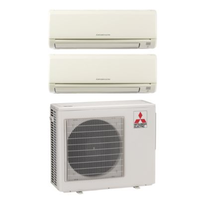 Mitsubishi MXZ2B20NA12001 - 18,000 BTU  Dual-Zone Wall Mount Mini Split Air Conditioner Heat Pump 208-230V (6-9)