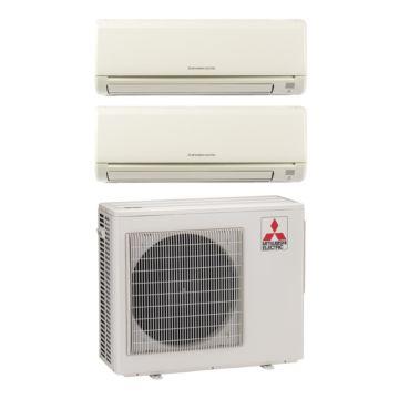 Mitsubishi MXZ2B20NA12005 - 18,000 BTU 18 SEER Dual-Zone Wall Mounted Mini Split Air Conditioner with Heat Pump 220V (9-12)