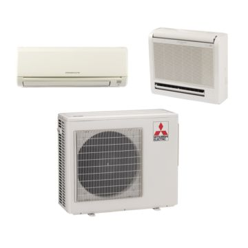 Mitsubishi MXZ2B20NA12024 - 18,000 BTU Dual-Zone Mixed Mini Split Air Conditioner Heat Pump 208-230V (9-9)