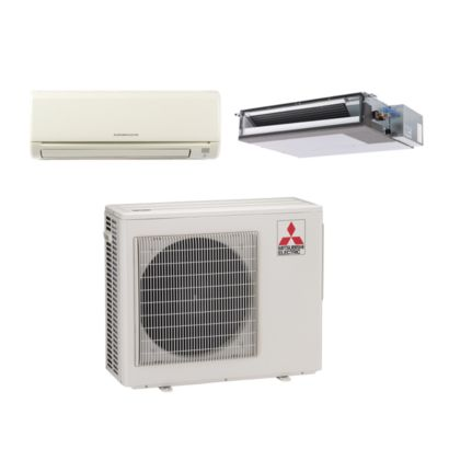 Mitsubishi MXZ2B20NA12027 - 20,000 BTU Dual-Zone Wall Mount & ConcealedMini Split Air Conditioner Heat Pump 208-230V (6-9)