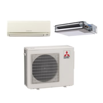 Mitsubishi MXZ2B20NA12030 - 20,000 BTU Dual-Zone Mixed Mini Split Air Conditioner Heat Pump 208-230V (9-9)