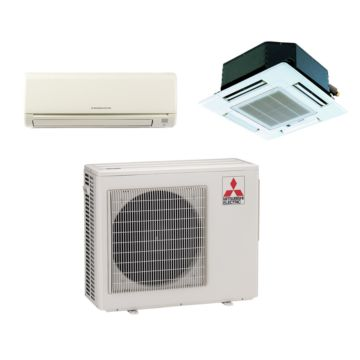 Mitsubishi MXZ2B20NA12037 - 18,000 BTU Dual-Zone Mixed Mini Split Air Conditioner with Heat Pump 220V (9-9)
