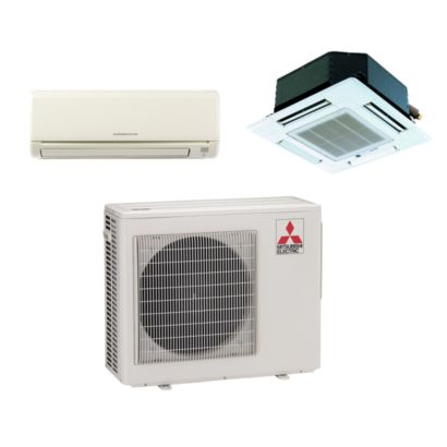 Mitsubishi MXZ2B20NA12037 - 18,000 BTU Dual-Zone Mixed Mini Split Air Conditioner Heat Pump 208-230V (9-9)